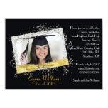 Negro e invitación de la graduación del brillo del