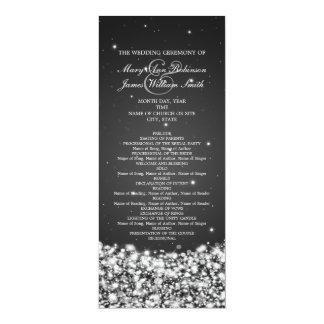 Negro elegante de la chispa de la estrella del invitacion personalizada