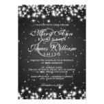 Negro elegante de la chispa del invierno del boda comunicados personales
