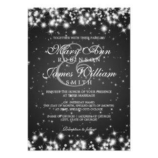 Negro elegante de la chispa del invierno del boda