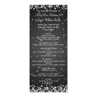 Negro elegante de la chispa del invierno del invitacion personalizada