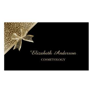 Negro elegante de la cosmetología y cinta del tarjetas de visita