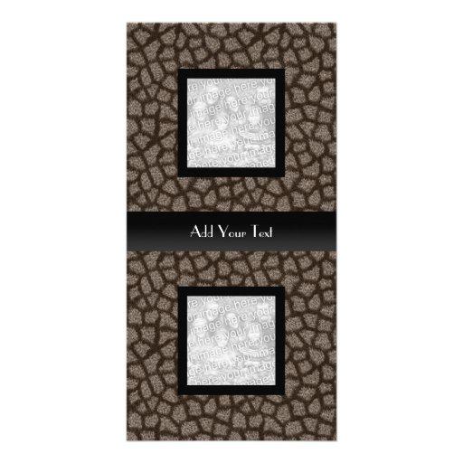 Negro elegante de la mirada animal de la tarjeta d tarjetas con fotos personalizadas