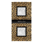 Negro elegante de la mirada animal del leopardo de tarjeta fotografica