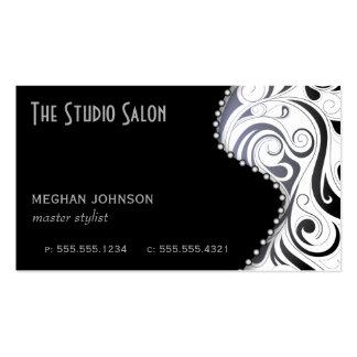 Negro elegante de la tarjeta de visita de la cita
