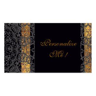 Negro elegante del boda moderno/elegante de moda tarjetas de visita