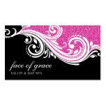Negro elegante del brillo de las rosas fuertes del plantilla de tarjeta de visita