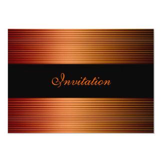 Negro elegante del bronce del cobre del oro de los invitación 12,7 x 17,8 cm