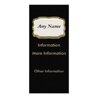 Negro elegante del letrero y tarjetas del estante tarjeta publicitaria