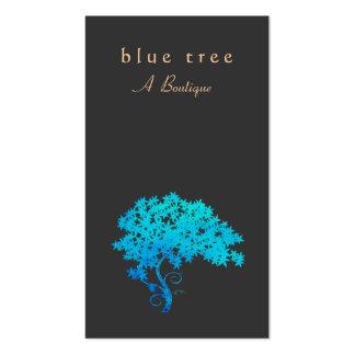 Negro elegante del logotipo del árbol del zen de tarjetas de visita