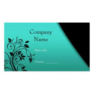 Negro elegante del trullo de la empresa de tarjeta plantilla de tarjeta de visita