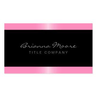 Negro elegante elegante de la frontera del rosa de tarjetas de visita