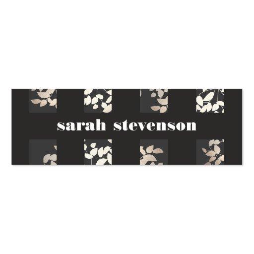 Negro elegante elegante de las hojas del diseño plantillas de tarjetas de visita