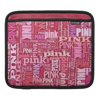 Negro elegante, frambuesa y rosa, amantes rosados funda para iPads