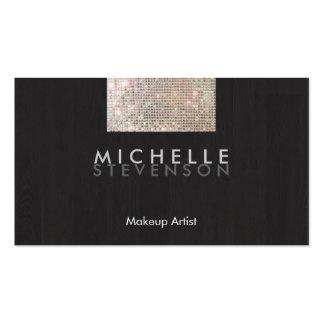 Negro elegante moderno de la lentejuela del tarjetas de visita