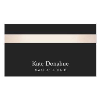 Negro elegante moderno rayado del oro color de tarjetas de visita
