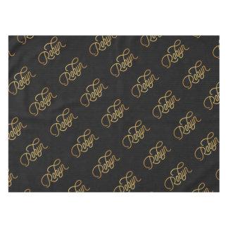 Negro elegante personalizado del oro de Robyn de Mantel