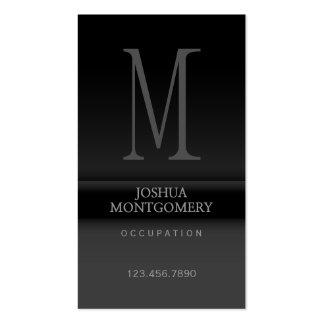 Negro elegante profesional del diseño de la tarjet plantilla de tarjeta de visita