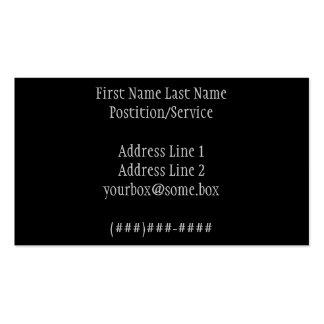 Negro elegante tarjetas de visita
