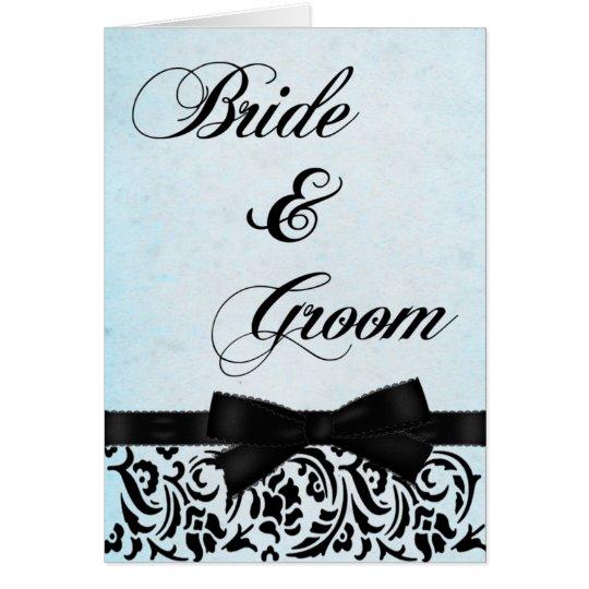 Negro elegante y azul tarjeta de felicitación