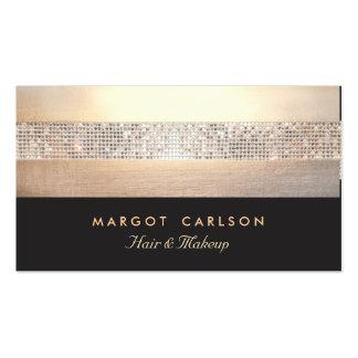 Negro elegante y elegante del oro de la lentejuela tarjetas de visita