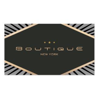 Negro elegante y oro del emblema del diamante del plantillas de tarjeta de negocio