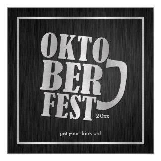 Negro elegante y plata metalizada Oktoberfest 2013 Anuncio Personalizado
