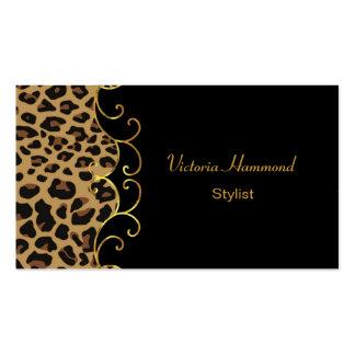 Negro elegante y tarjeta de visita de la impresión