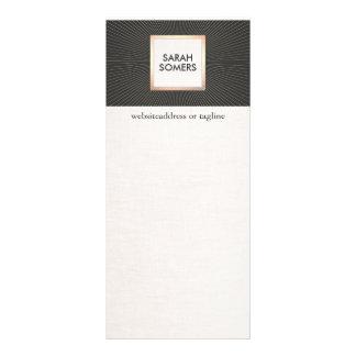 """Negro elegante y vintage moderno elegante del oro folleto publicitario 4"""" x 9"""""""