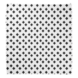 Negro en el diseño blanco del diamante bandanas