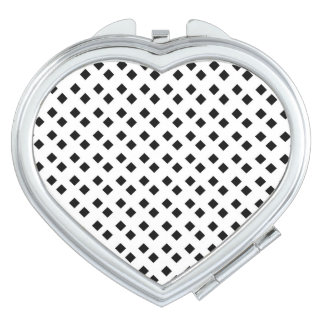 Negro en el diseño blanco del diamante espejos para el bolso