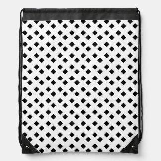 Negro en el diseño blanco del diamante mochila