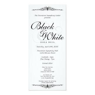 """Negro en largo corporativo de la gala de la danza invitación 4"""" x 9.25"""""""
