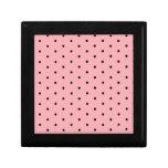 Negro en lunares rosados caja de recuerdo