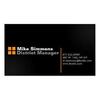 Negro en negro con el naranja tarjetas de visita