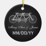 Negro en tándem de la bici del favor elegante del  ornamento de reyes magos