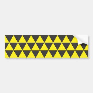 negro en triángulos amarillos pegatina para auto