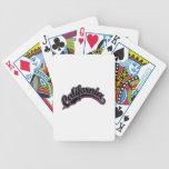 Negro en violeta baraja cartas de poker