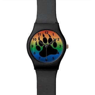 Negro especial de la parte posterior de la pendien relojes de mano