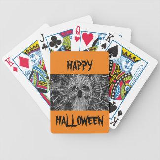 Negro esquelético del arte/mercancía blanca del baraja de cartas