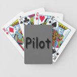 Negro experimental baraja de cartas