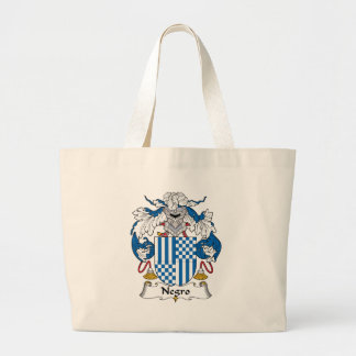 Negro Family Crest Canvas Bags