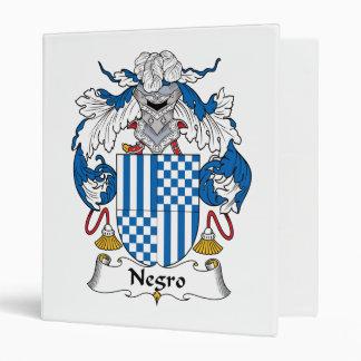 Negro Family Crest 3 Ring Binder