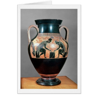 Negro-figura amphora que representa Ajax y a Aquil Tarjeta De Felicitación