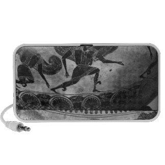 Negro-figura dinos del ático iPod altavoces