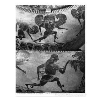 Negro-figura dinos del ático tarjeta postal