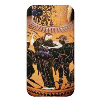 Negro-figura florero del ático iPhone 4 carcasas