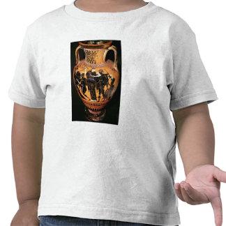 Negro-figura florero del ático camisetas