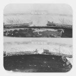 Negro-figura krater del ático de los dinos calcomanías cuadradass personalizadas