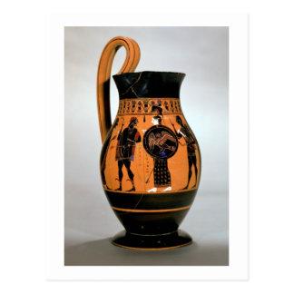 Negro-figura olpe del ático que representa Athena Postales
